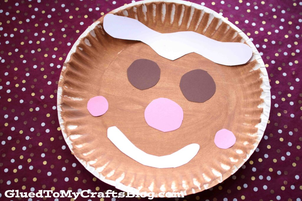 Paper Plate Gingerbread Man {Kid Craft}