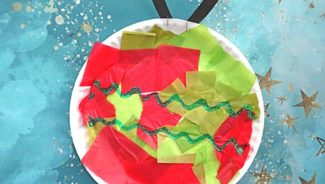 Paper Plate Ornament - Christmas Kid Craft