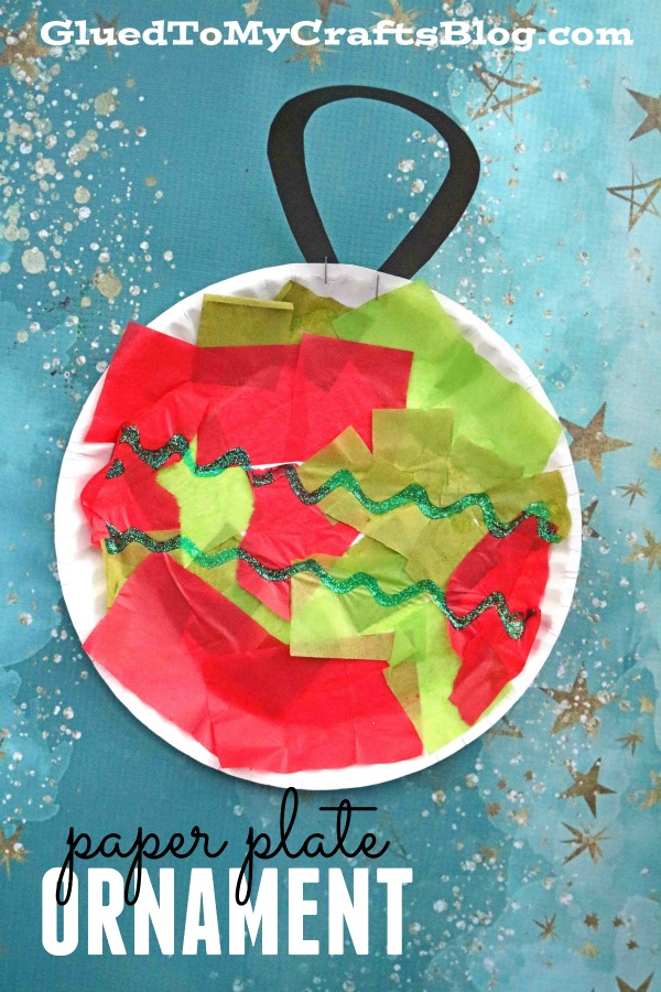 Paper Plate Christmas Ornament - Kid Craft