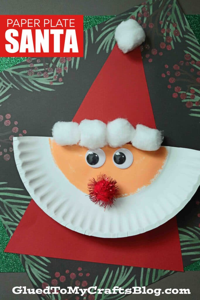 Paper Plate Santa - The Easiest Christmas Kid Craft Idea EVER!