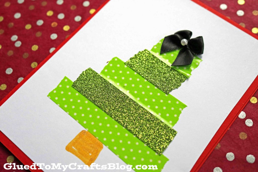 Washi Tape Christmas Tree Cards