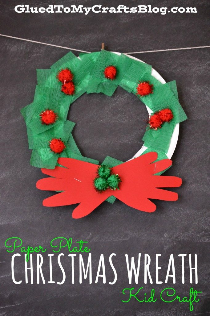 paper plate christmas wreath kid craft