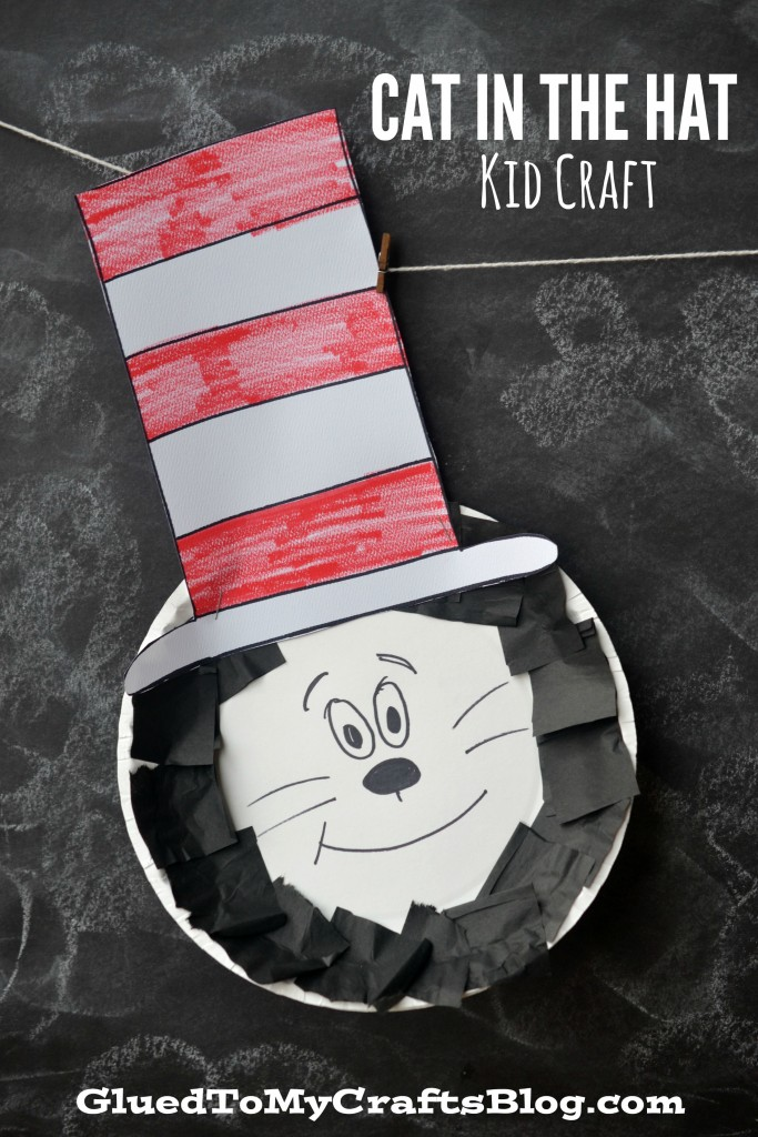 Paper Plate Dr Seuss Cat In The Hat {Kid Craft}