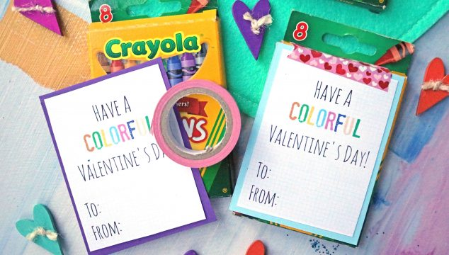 Have A Colorful Valentine's Day - Gift Idea & Free Printable