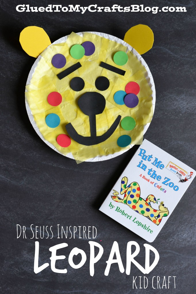 Dr Seuss Inspired Paper Plate Leopard - Kid Craft