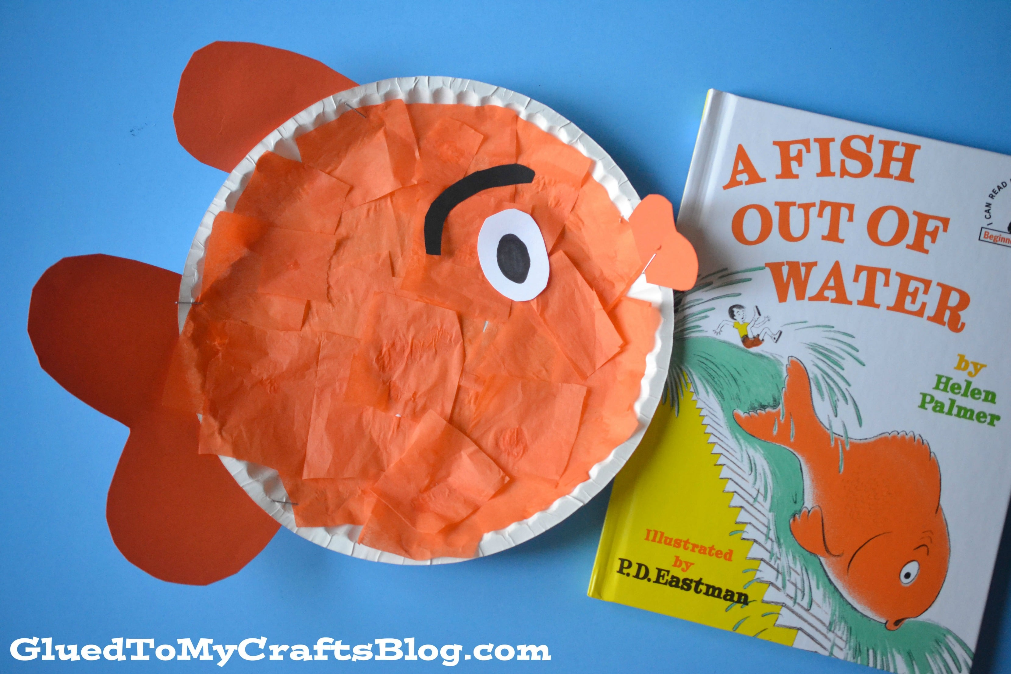 dr seuss beginner book inspired fish kid craft