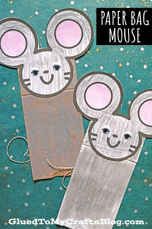 Paper Bag Mouse Puppet - Kid Craft Idea