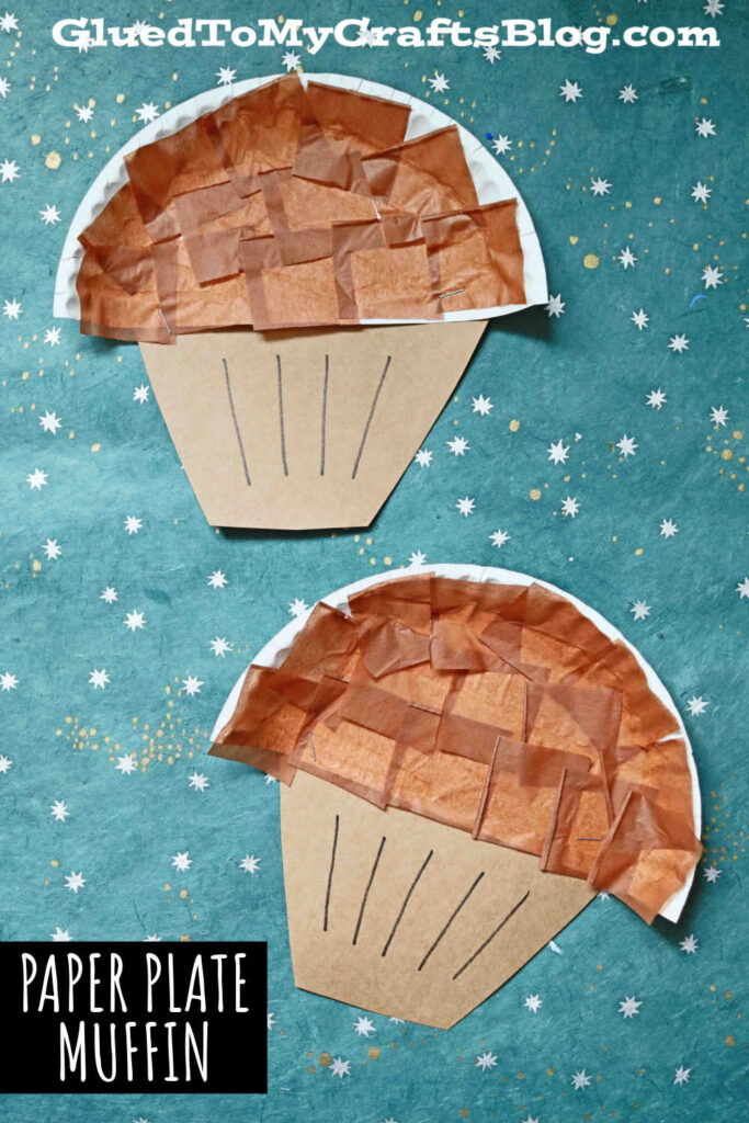 Paper Plate Muffin - Kid Craft Idea For Story Time