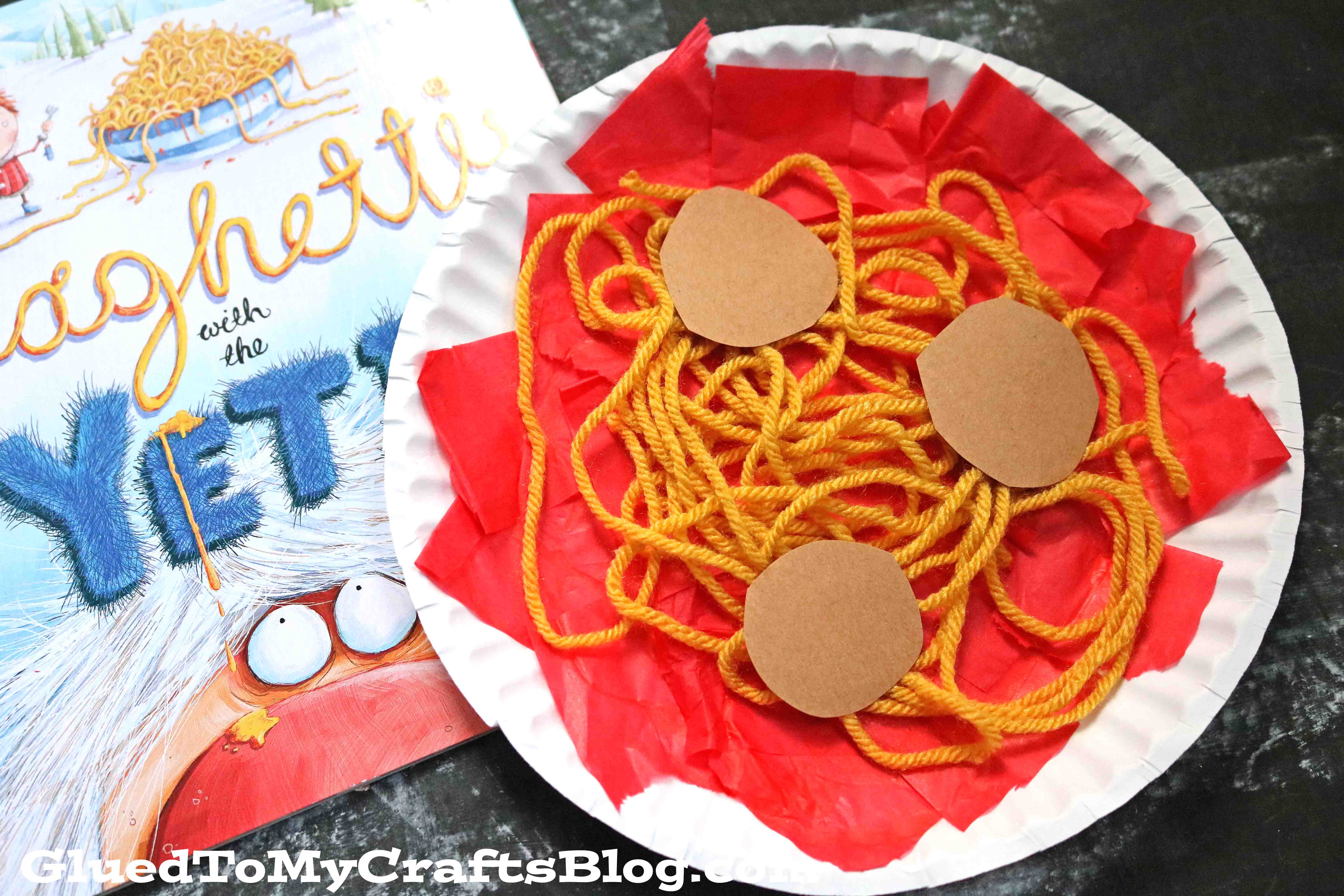 Paper Plate Spaghetti - Kid Craft Idea
