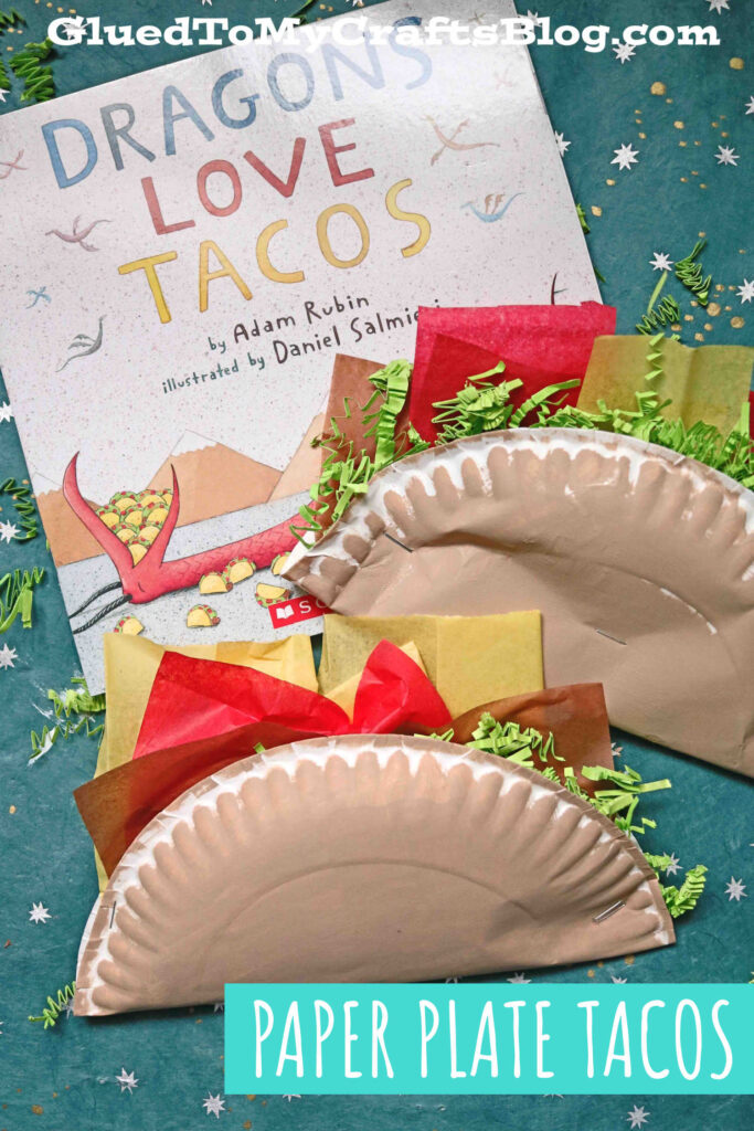 Paper Plate Taco - Dragons Love Tacos Kid Craft Idea