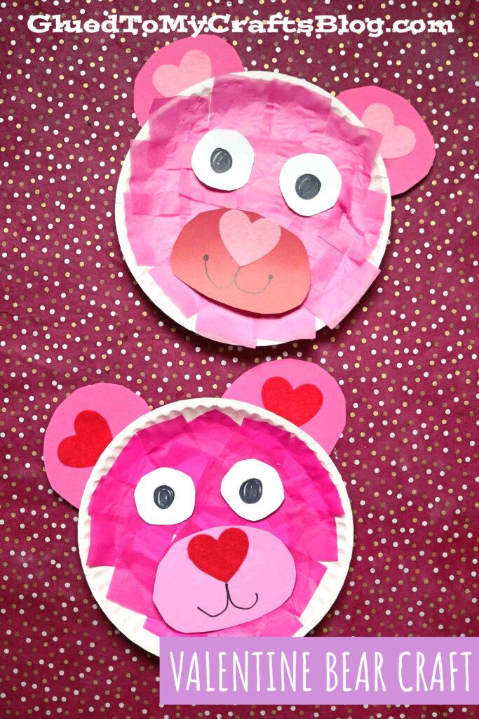 Paper Plate Valentine Bear - Kid Craft Idea For Valentine's Day