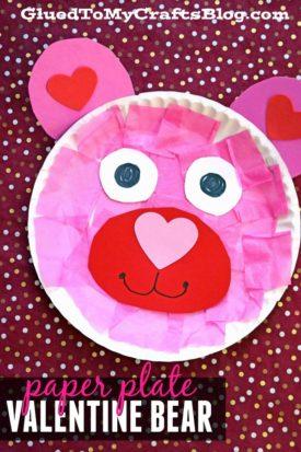 Paper Plate Valentine Bear {Kid Craft}