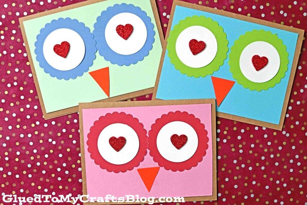 DIY Paper Scrap Owl Cards Craft For Kids To Make