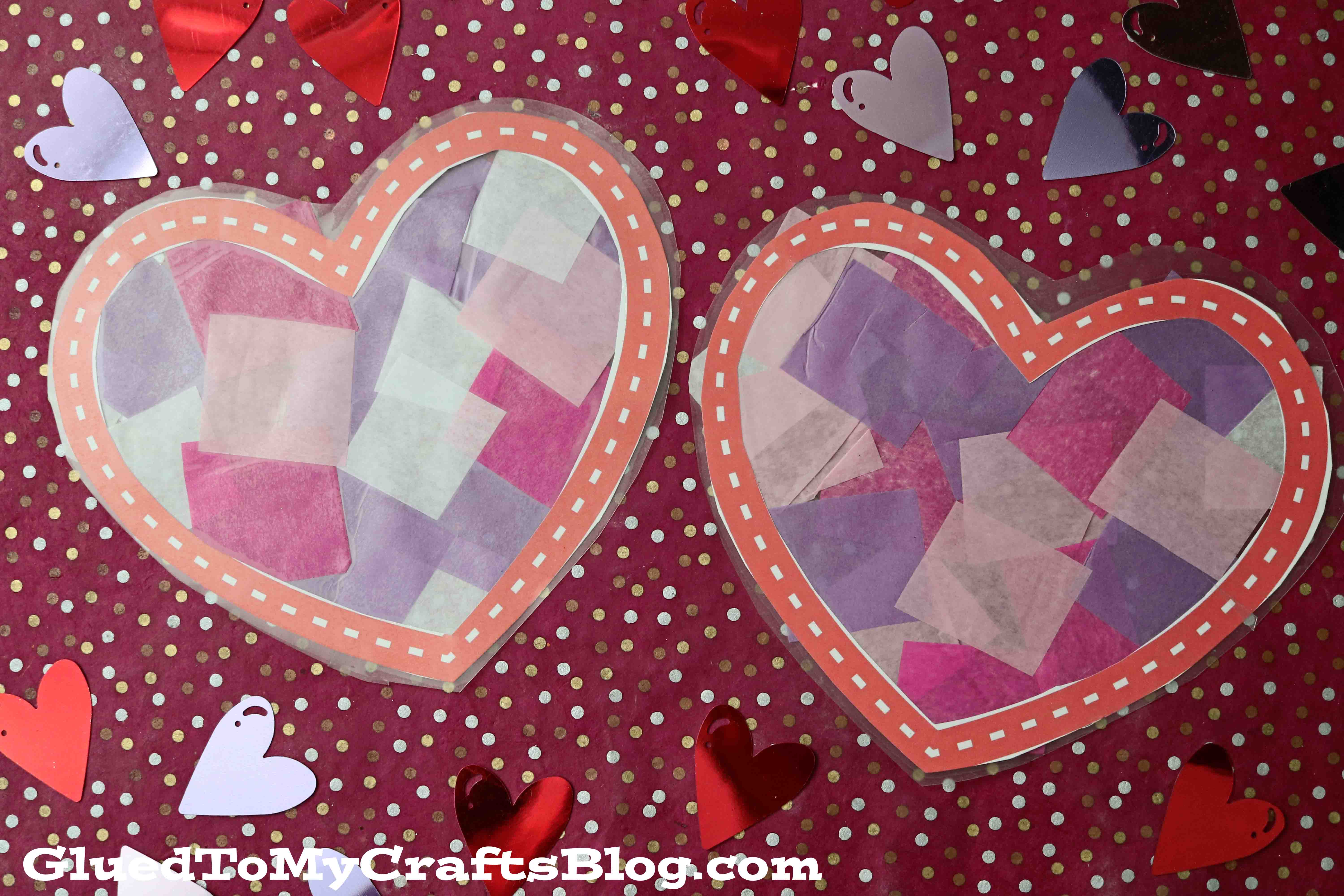 Stained Glass Hearts - Kid Craft Idea For Valentine's Day