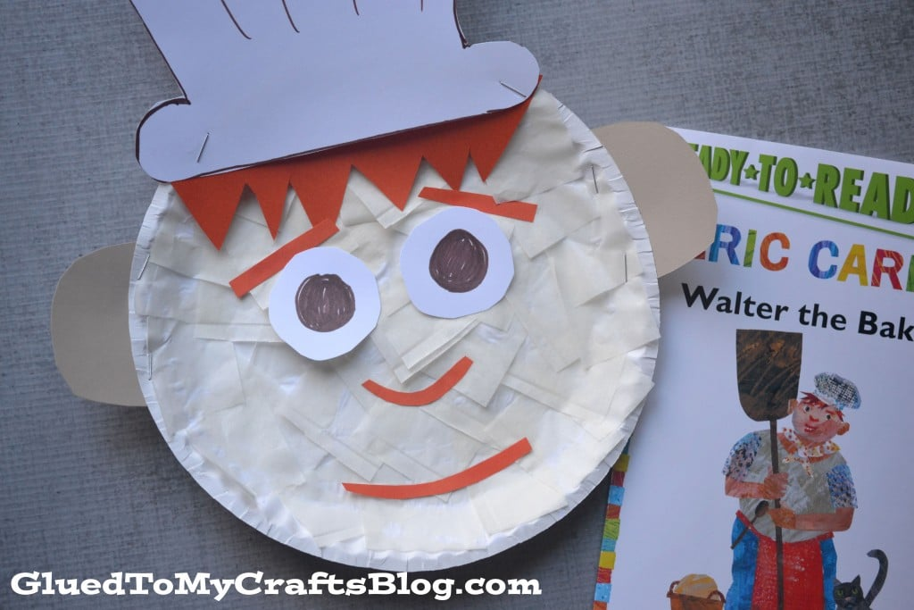 Paper Plate Baker Kid Craft