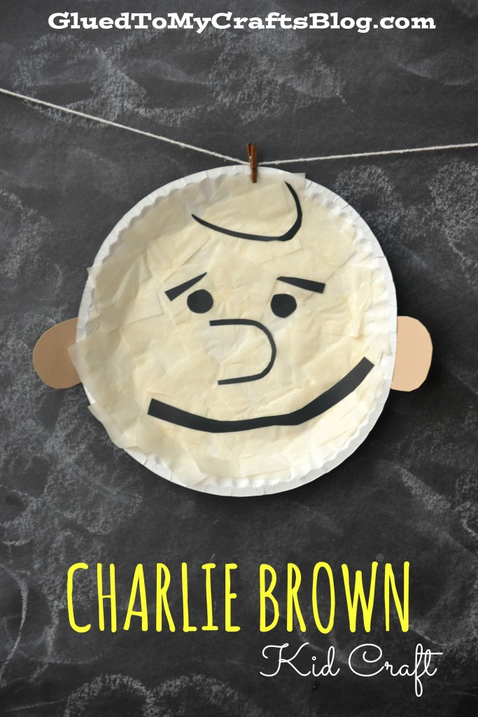 Paper Plate Charlie Brown - Kid Craft Idea