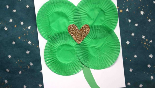 Cupcake Liner Shamrock {Kid Craft}