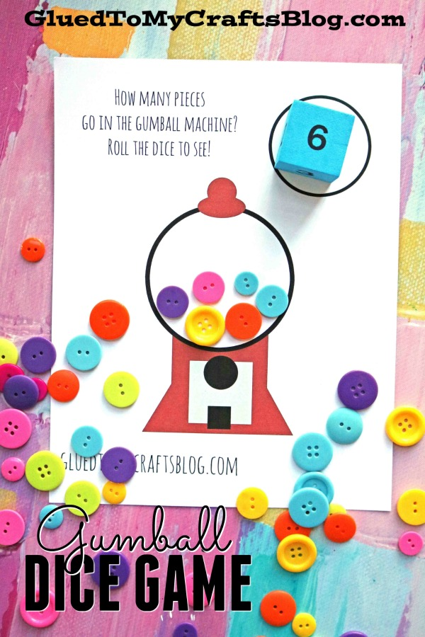 graphic regarding Printable Gumball Machine titled Gumball Cube Video game + Totally free Printable