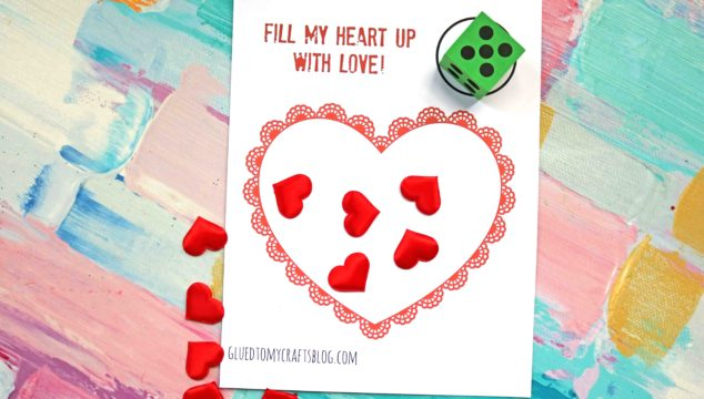 Valentine's Day Heart Dice Game + Free Printable