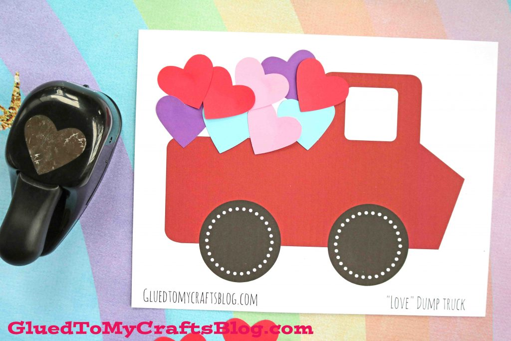 Love Dump Truck - Kid Craft Idea & Free Printable