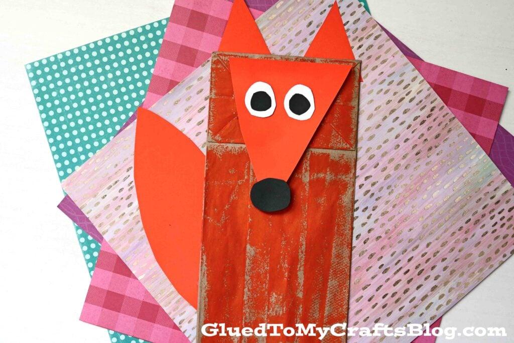 Paper Bag Fox Puppet - Kid Craft Idea
