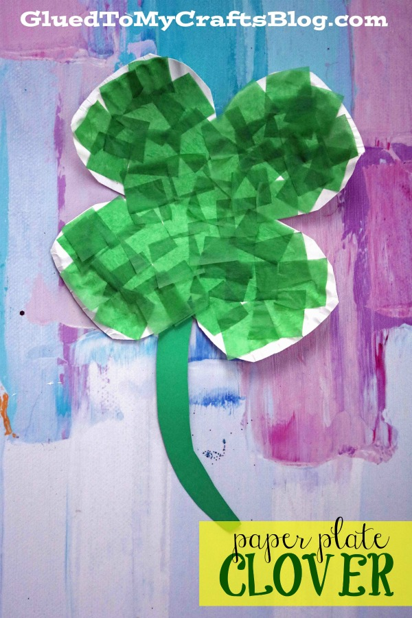 Paper Plate Four Leaf Clover - Kid Craft Idea For St. Patrick's Day