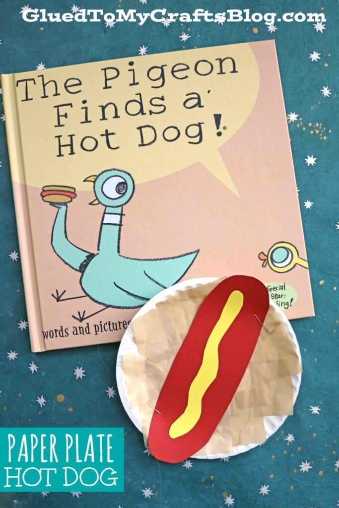 Paper Plate Hot Dog - Kid Craft Idea