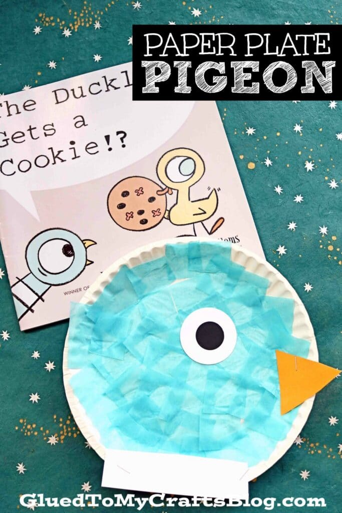 Paper Plate Pigeon - Children's Book Themed Kid Craft