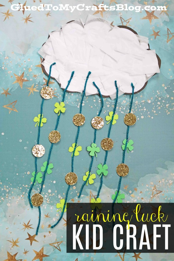 Raining Luck - Paper Kid Craft Idea For St. Patrick's Day