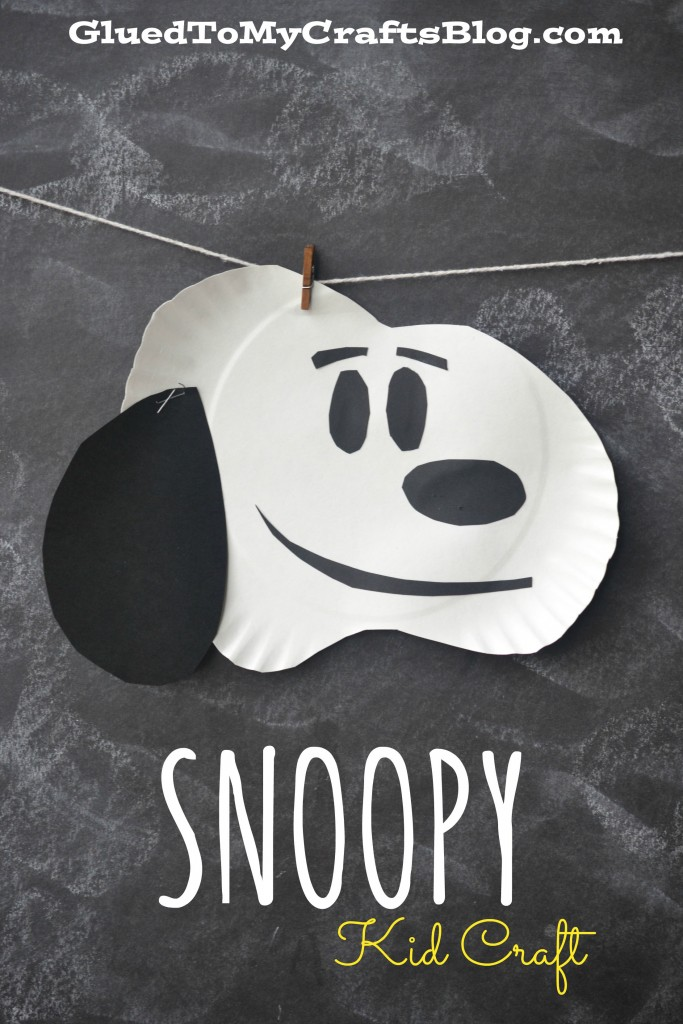 Paper Plate Snoopy - Kid Craft Idea