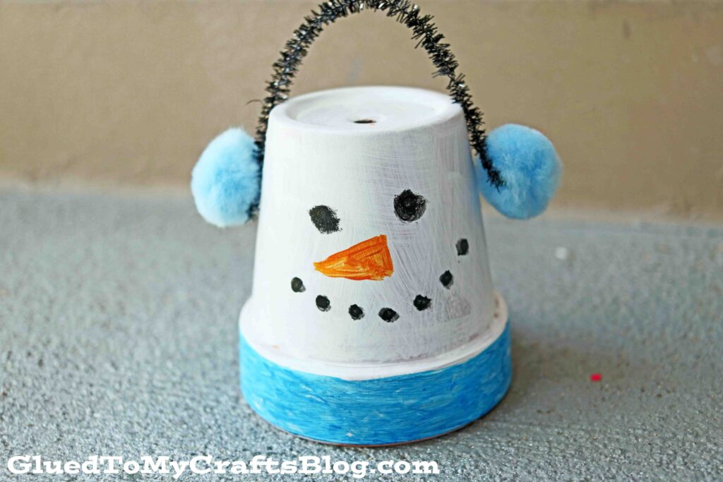 Terra Cotta Pot Snowman - Kid Craft Idea For Winter