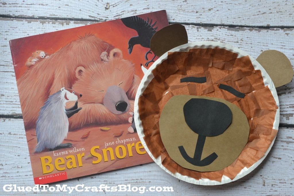 bear craft ideas paper plate sleeping kid craft 1112