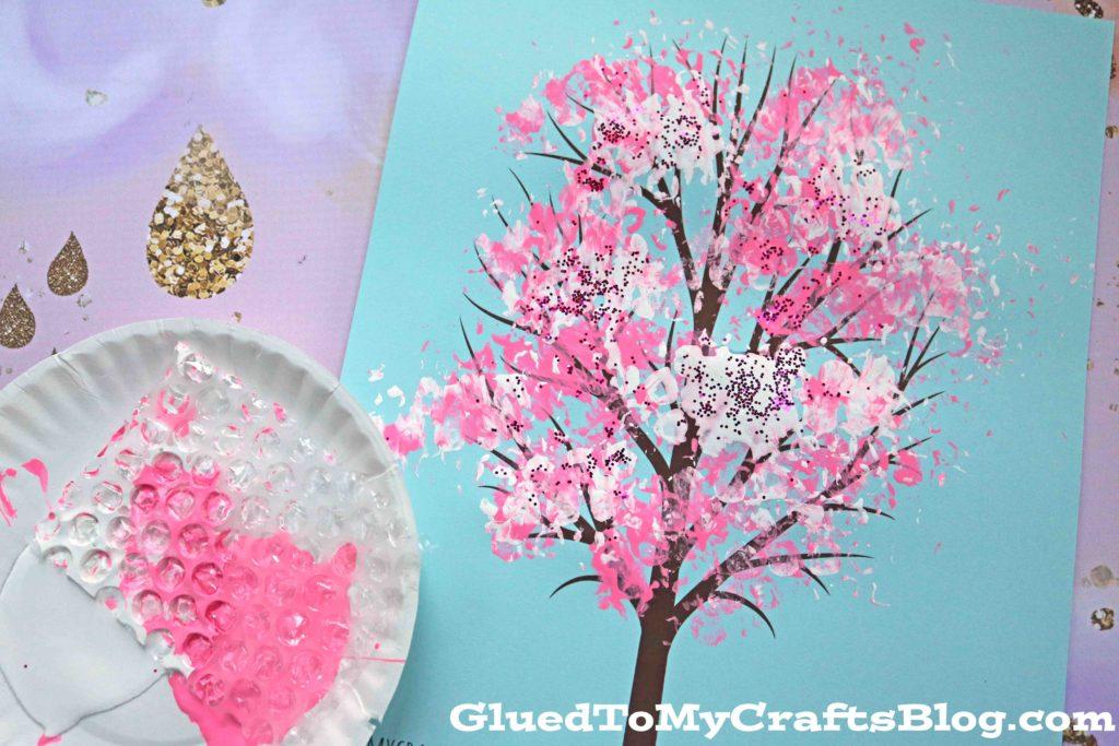 Bubble Wrap Print Cherry Blossom Tree