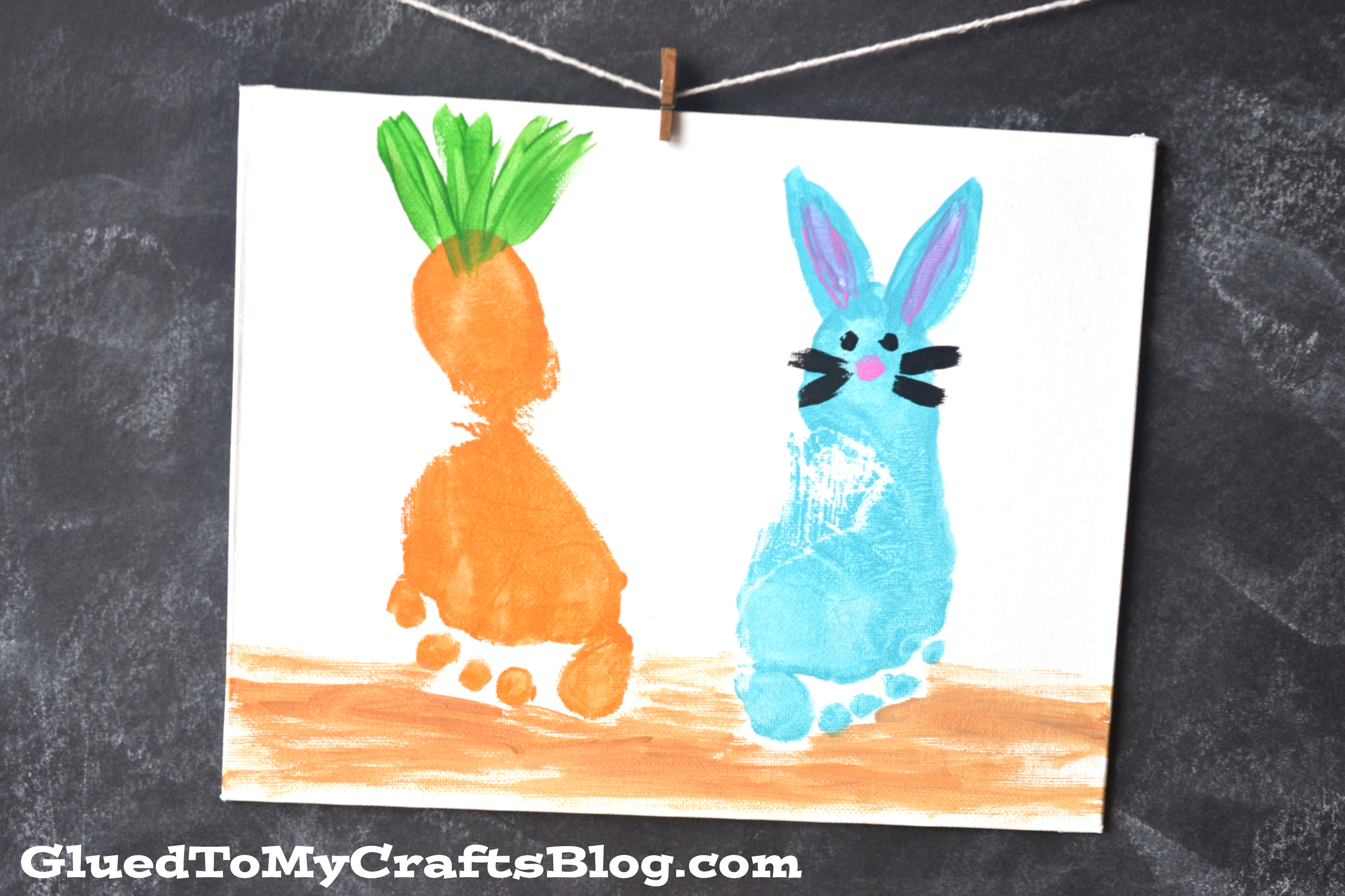 Easter Footprint Canvas Keepsake For Kids To Make This Spring