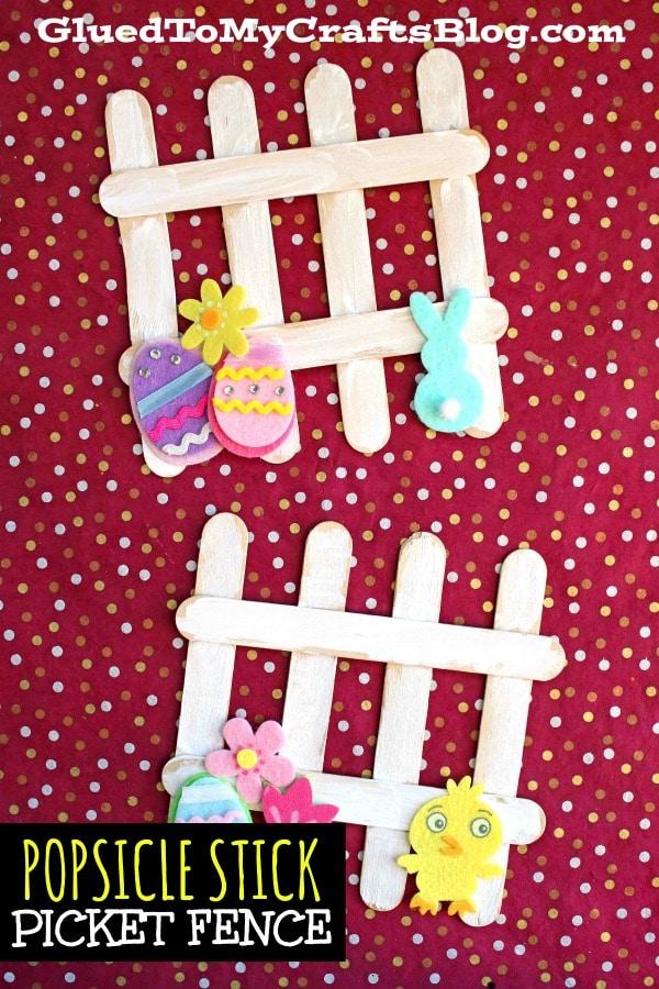 Popsicle Stick Picket Fence {Kid Craft}