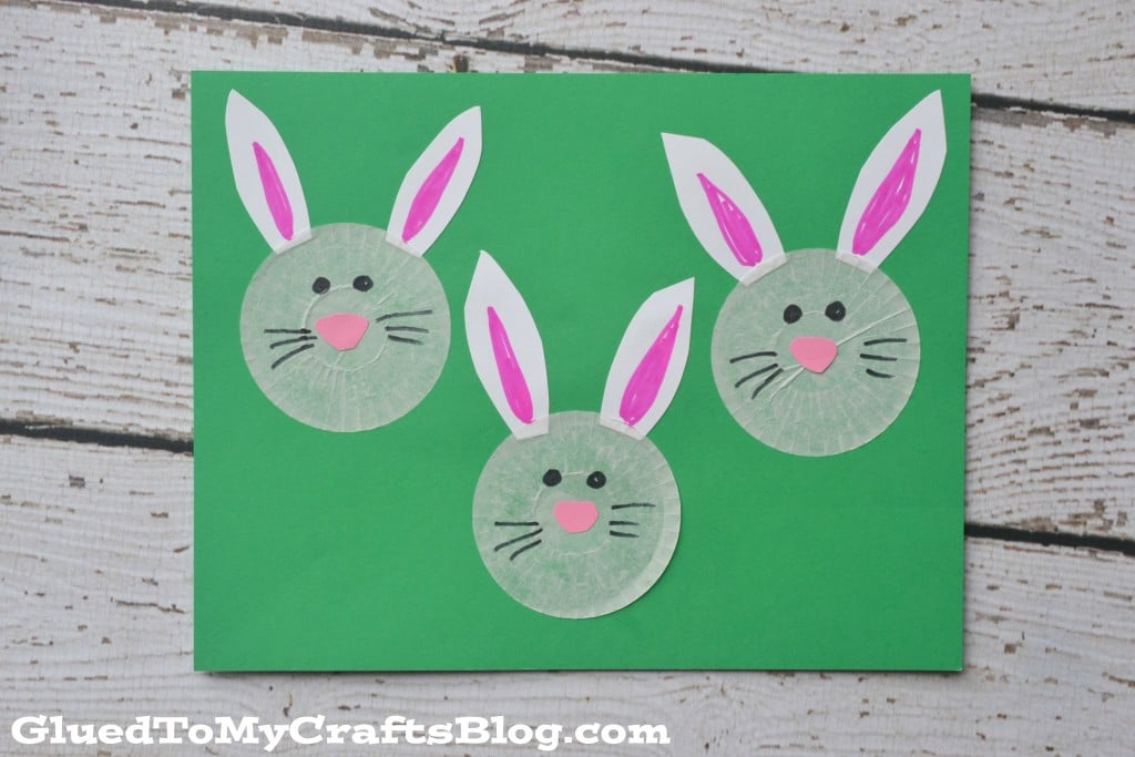 Cupcake Liner Bunnies - Easter Kid Craft Idea