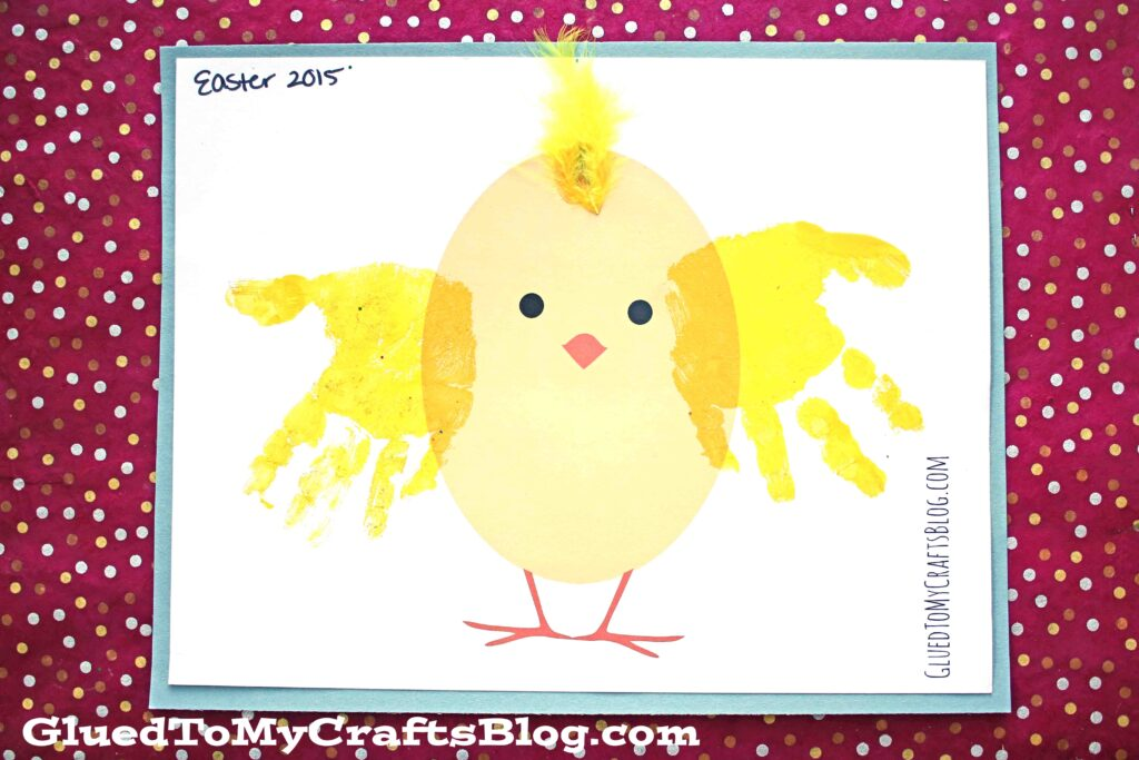 Handprint Chick - Kid Craft Idea w/free printable