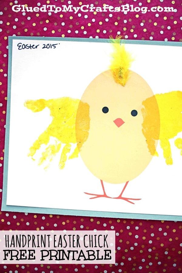 Handprint Chick - Kid Craft Idea w/free printable