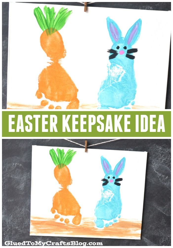 Easter Footprint Canvas Keepsake - Kid Craft