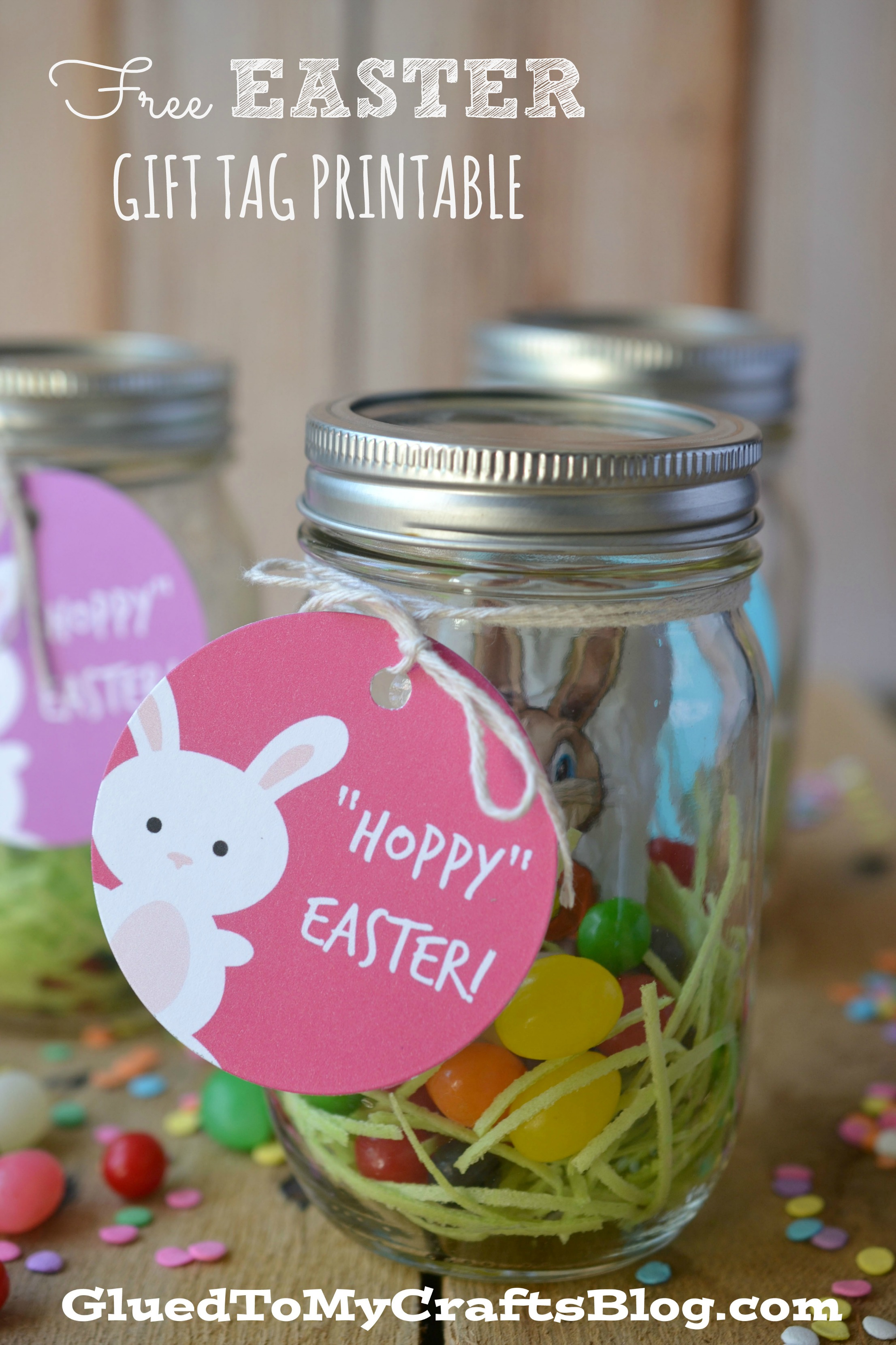 Free HOPPY Easter Gift Tag Printable