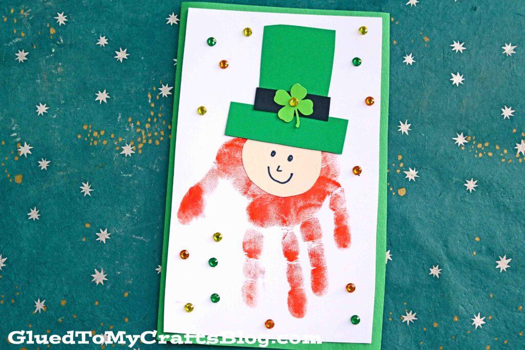 Handprint Leprechaun Card - St. Patrick's Day Kid Craft