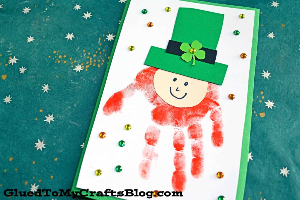 Handprint Leprechaun Card - St. Patrick's Day Kid Craft