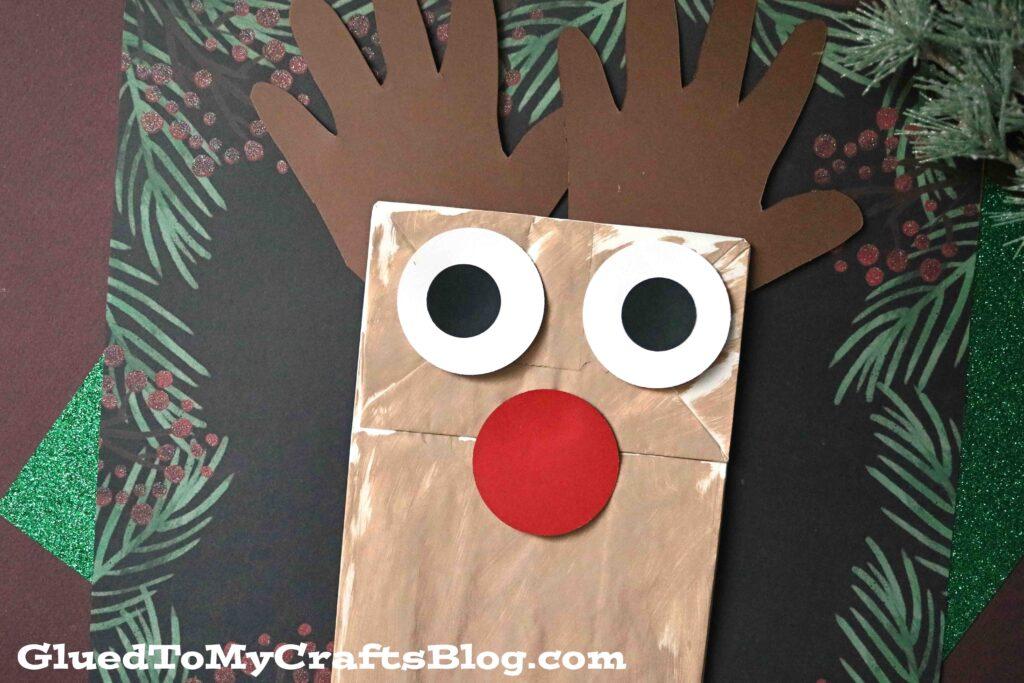 Paper Bag Reindeer Puppet - Christmas Kid Craft Tutorial