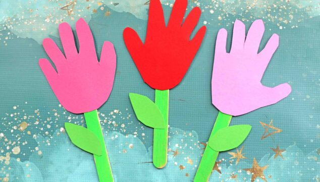 Popsicle Stick Handprint Flowers - Kid Craft Idea For Spring