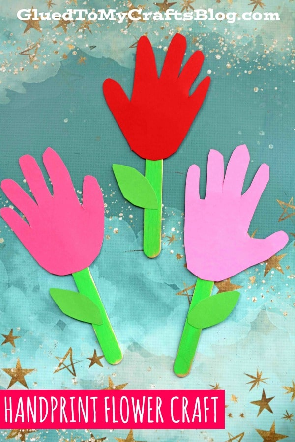 Popsicle Stick Handprint Flowers - Kid Craft