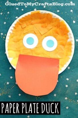 Paper Plate Duck - Kid Craft Idea