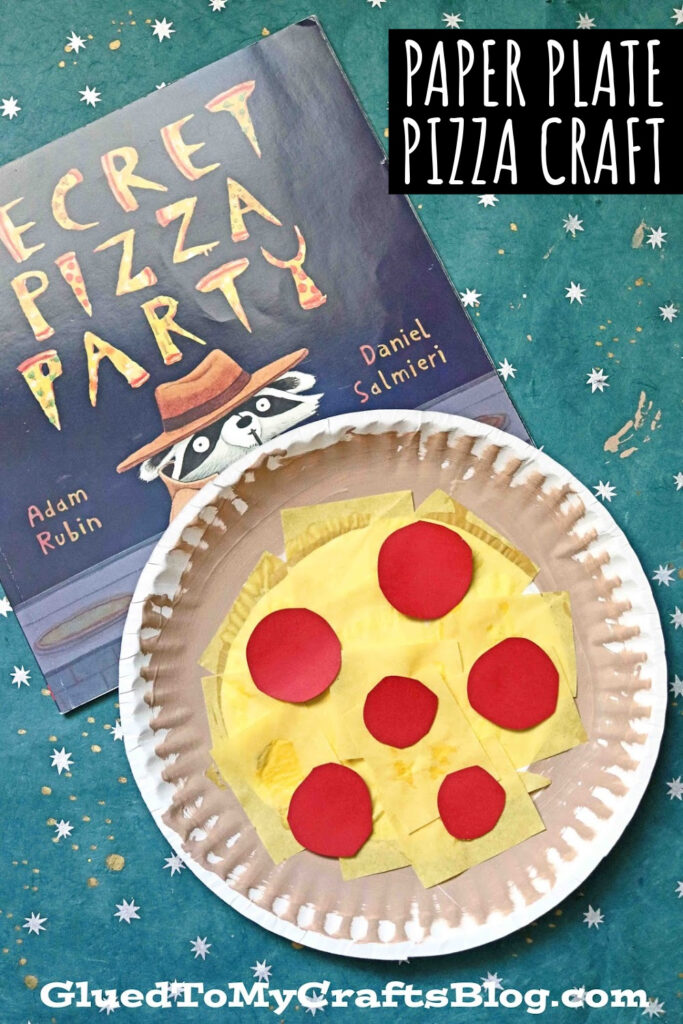 Paper Plate Pizza - Kid Craft Idea Using Paint & Tissue Paper