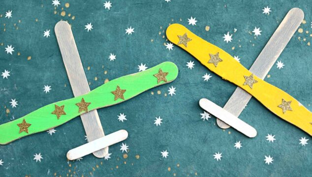 Popsicle Stick Airplanes - Kid Craft Idea