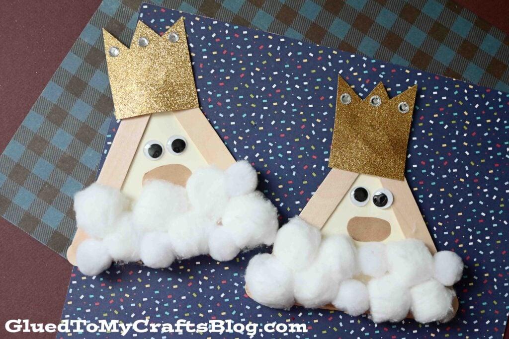 Popsicle Stick Kings - Christmas Kid Craft Idea