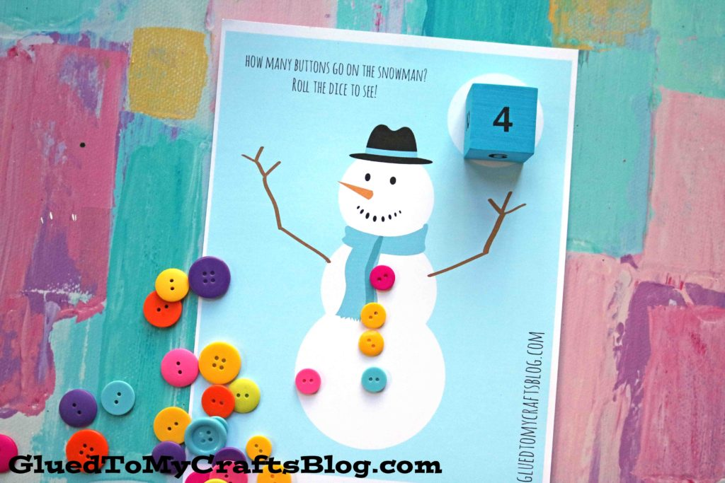 Busy Bag Snowman Dice Game {Free Printable}